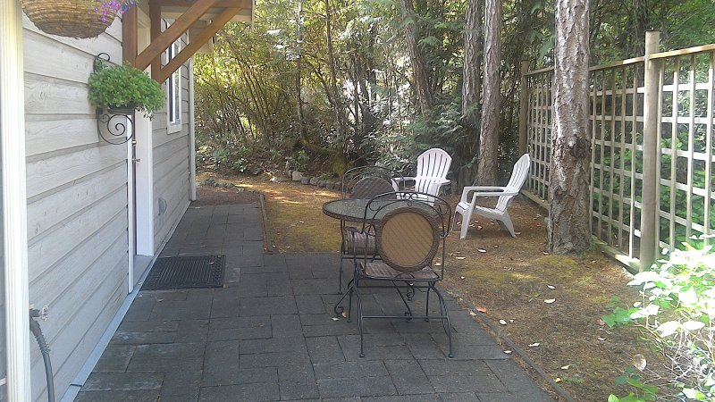 Outside sitting patio table and chairs