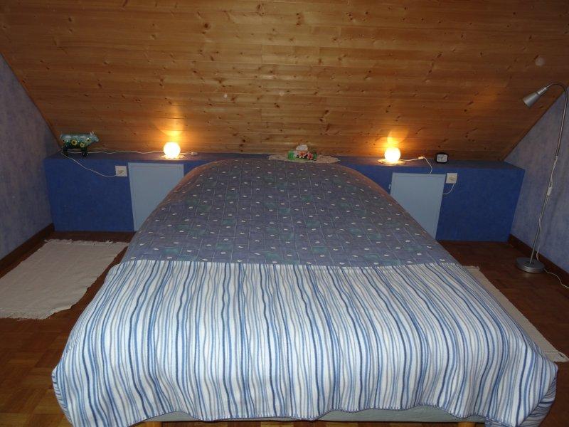 habitación azul cama 2personnes