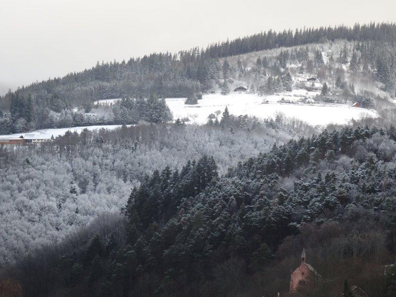 Vista de la montaña invierno