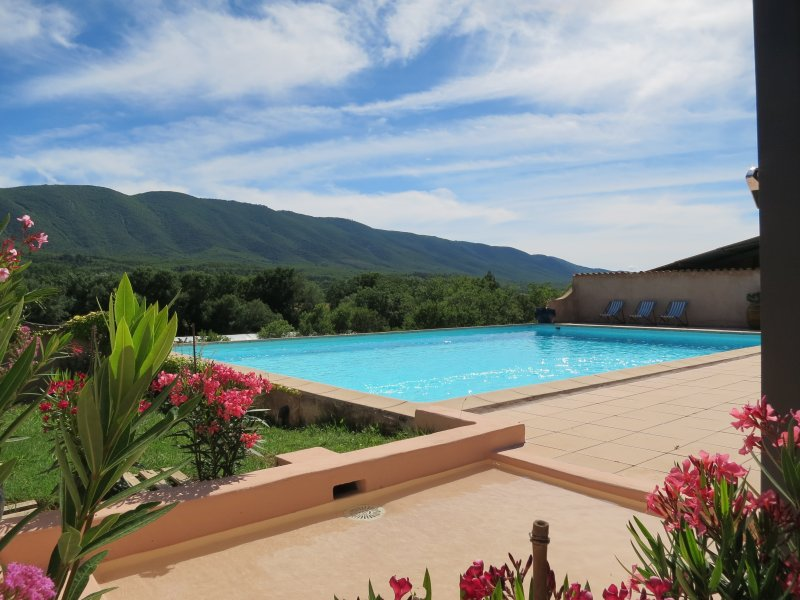 Pool (12 m X 8m ) with stunning view on the Luberon