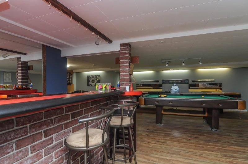 games room with bar