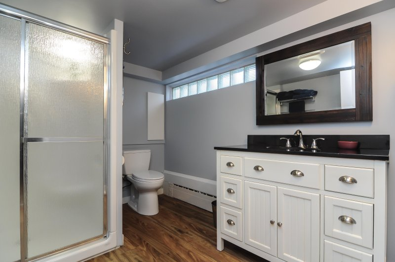 basement bathroom with shower