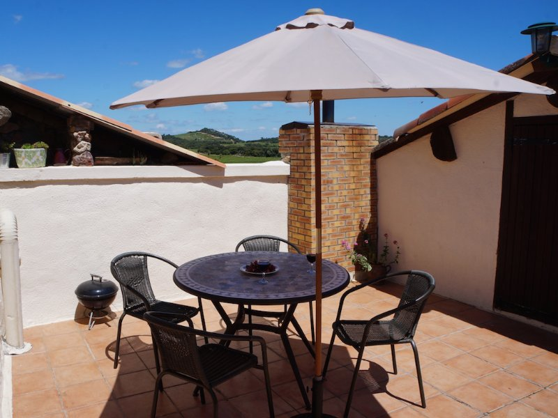 From a private, quiet and spacious roof terrace