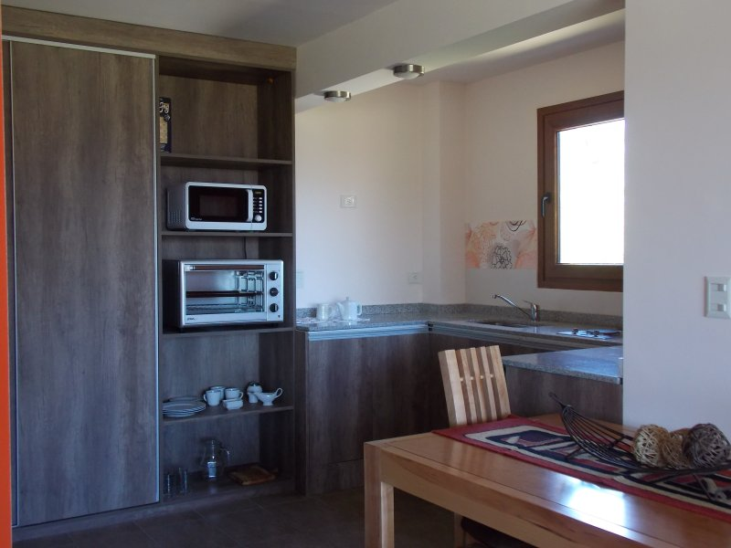 electric oven, microwave, refrigerator, toaster, electric kettle, dishes, etc.