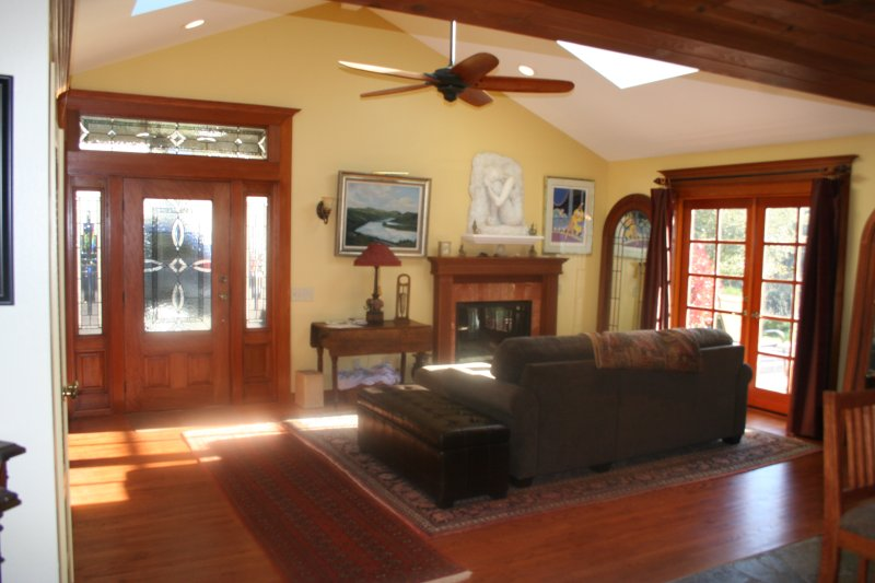 Front entry and family room