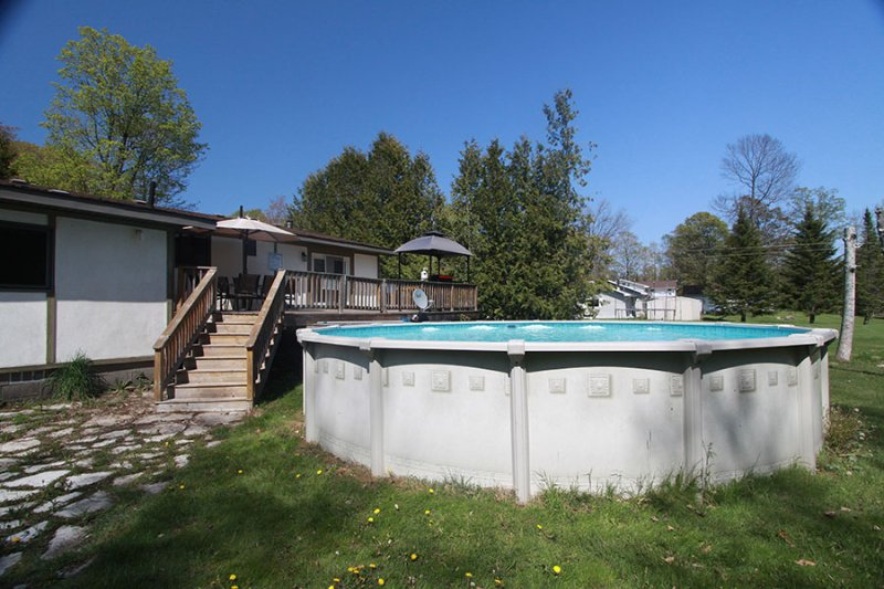 Above ground heated pool