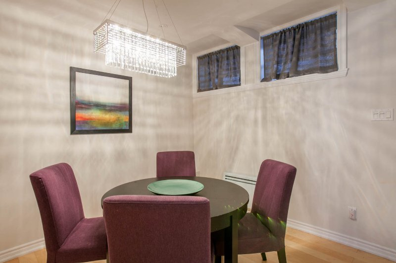 Dining area. The table opens to seat another 2 or 3 people