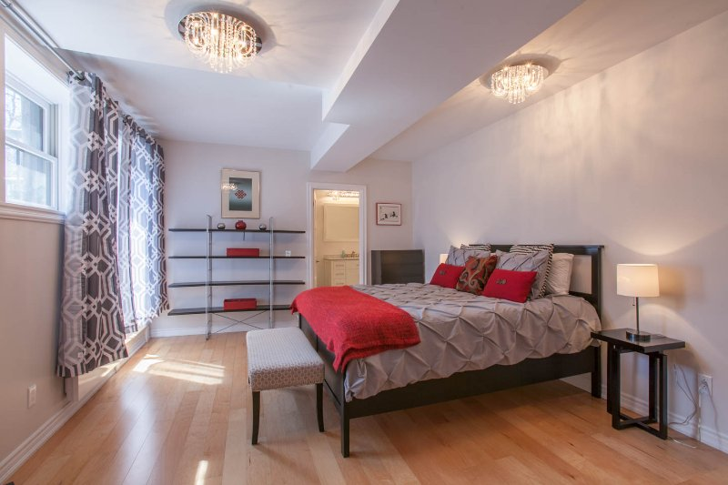 Master bedroom with very comfortable queen size bed and ensuite bathroom