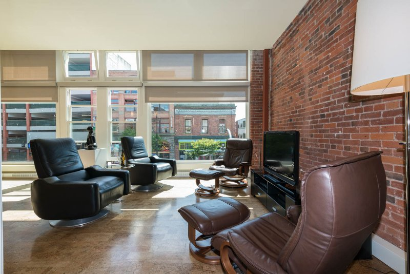 Four Leather Leisure Chairs In Conversation/Reading/ TV Area