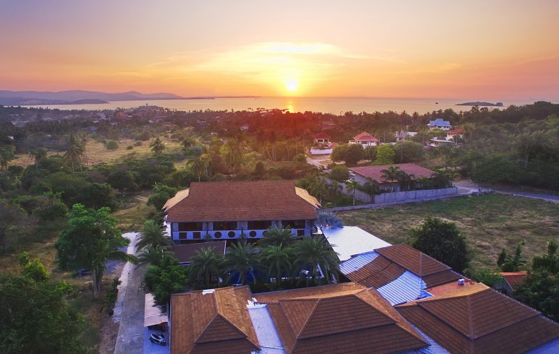 house view sunset view