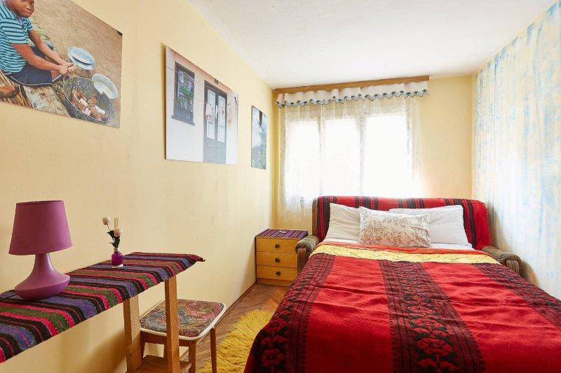 Cozy bedroom with handmade ethnic details