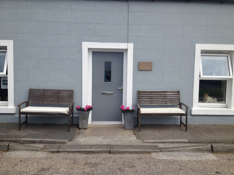 Front door - great place to sit and watch the harbour activities
