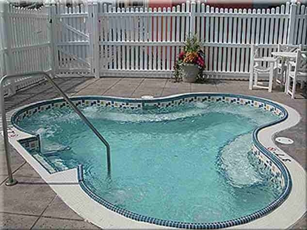 Private, secluded hot tub, perfect for relaxing near the pool