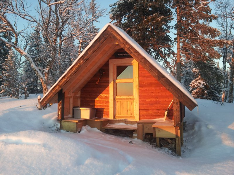 Our guests can also visit our mini cabin at Viewpoint Holandsberget (30 min. walk from the cabins)