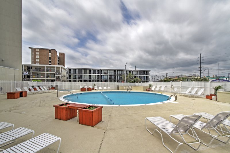 Cool off in the community pool during your stay at this vacation rental condo!