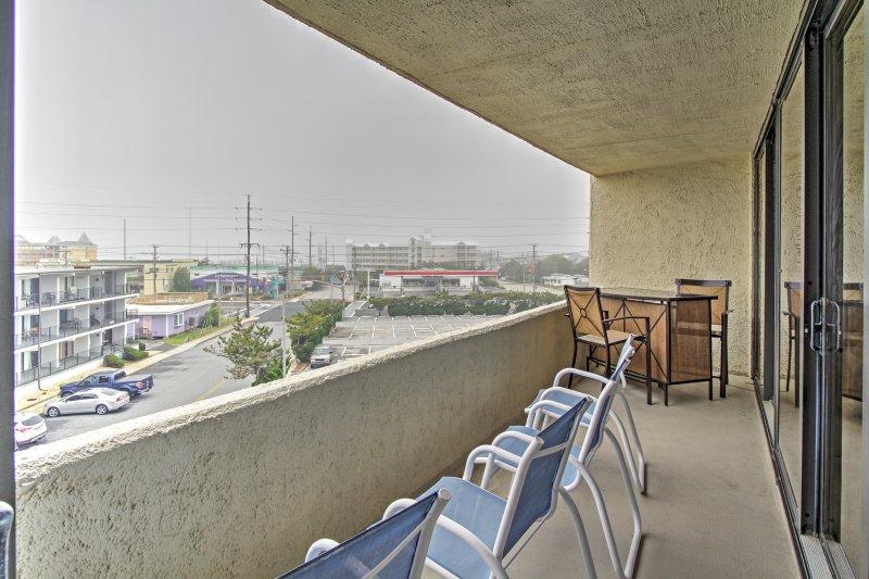 Asseyez-vous sur votre balcon et admirez la vue!
