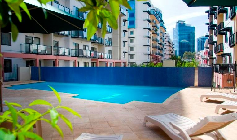 One of two pools to choose from with Perth city as your backdrop!