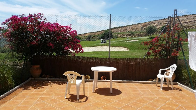 Large garden patio area - ideal for sunbathing with sun all day.