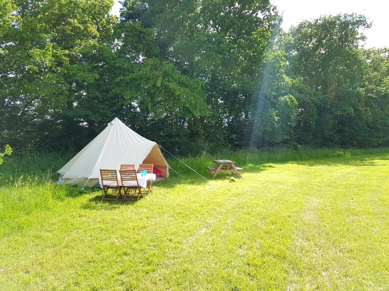 Bell Tent sleeps two to four up to 100 guests.