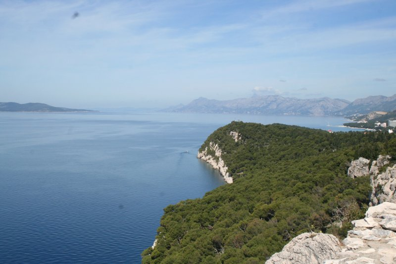 View from the forest trail to Makarska