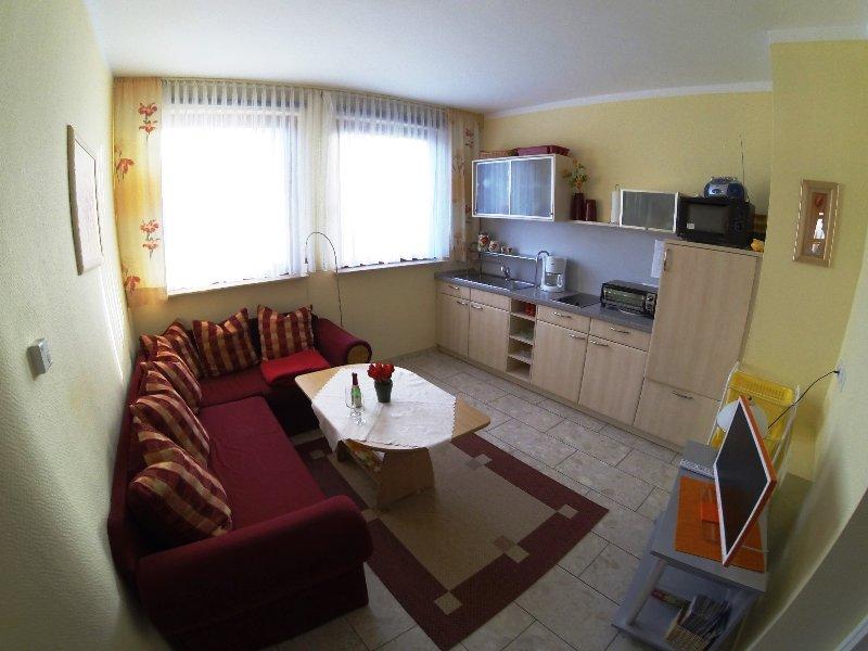 Wohnküche - Blick vom Eingang