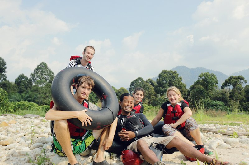 River tubing with us