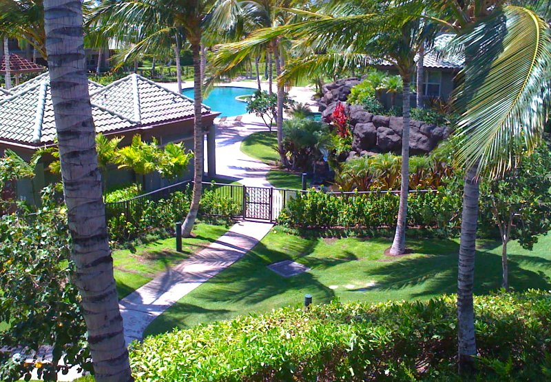 Pool View from upstairs Lanai