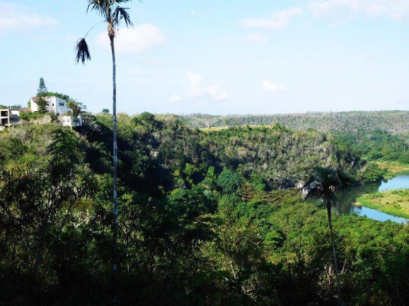 Canyon that runs through the resort