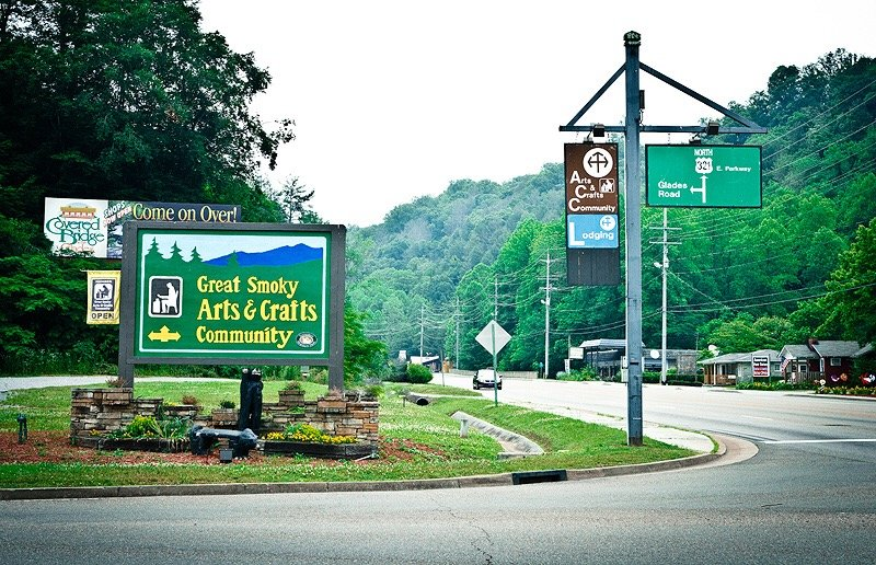 Another short 5 minute drive to the 8 mile loop that is the Arts & Crafts Community of Gatlinburg