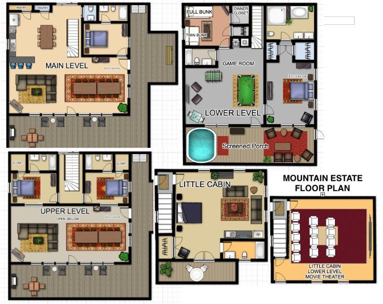 Mountain Estate Floor Plan