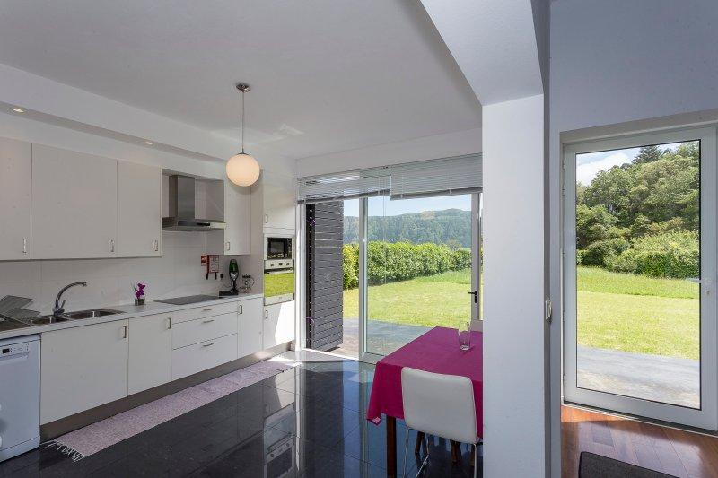 Modern kitchen with Panoramic view kitchen