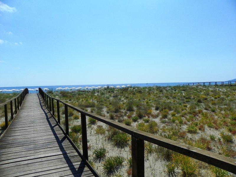 spiaggia libera a ridosso del parco