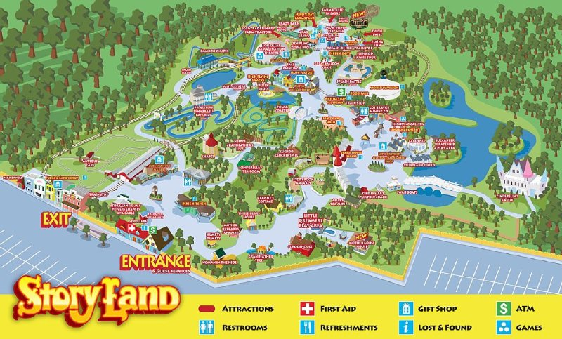 1 minute drive to Story Land