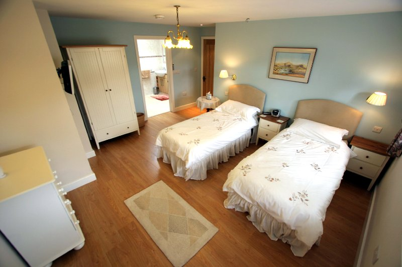 Optional downstairs bedroom designed for people with mobility problems and wheelchair users.