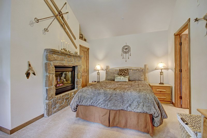 Totally Private Master Suite with Log Fire