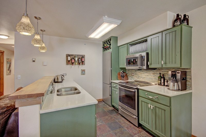 Well equipped European style kitchen