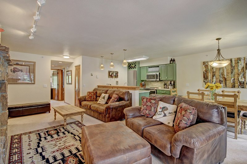Lounge with 2 comfy sofas