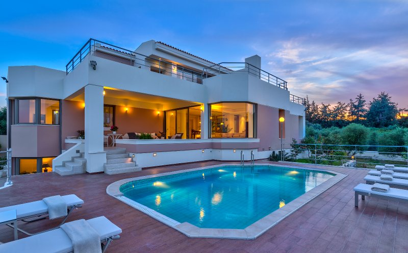 The villa is located in a quiet area but it's also close to all the amenities