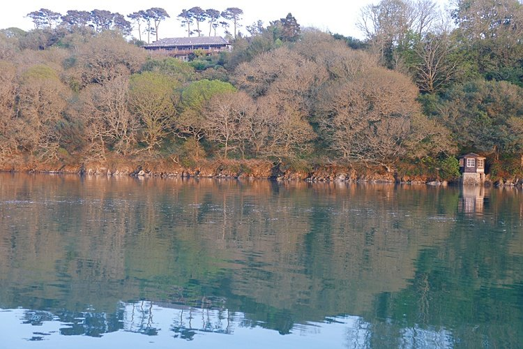 tremerlin,woodland garden, and lookout fronting the Helford river.