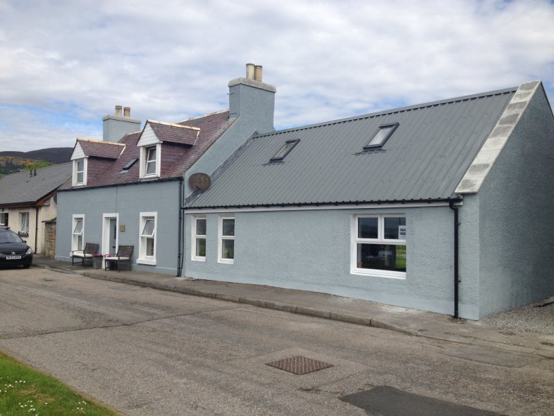The Hoose frontage on our quiet harbour side no through road