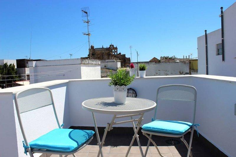 La terraza, estupenda para desayuno o atardeceres