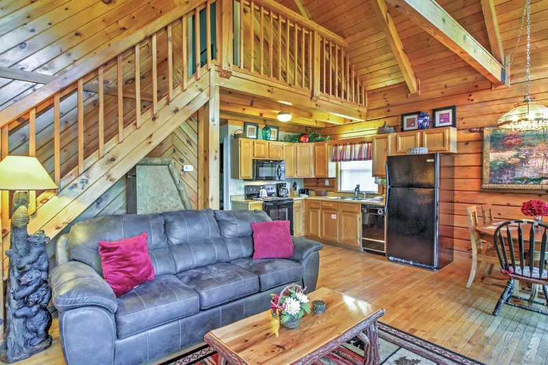 This vacation rental features all of the comforts of home!