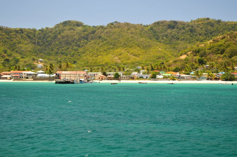 Down town Hillsborough upon arrival to Carriacou
