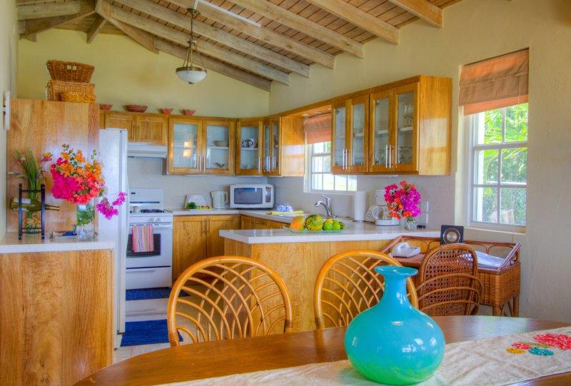 Open Plan kitchen/dining room with garden views