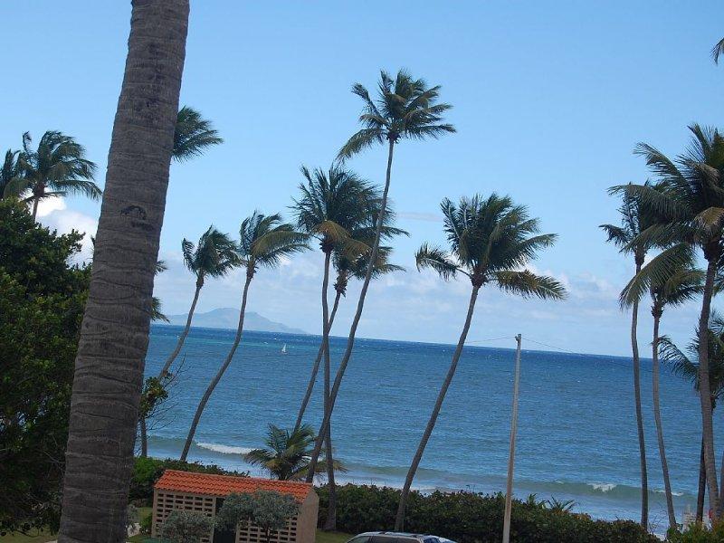 Spektakulärem Meerblick von unserem sehr privaten Deck. Insel Vieques im Hintergrund.