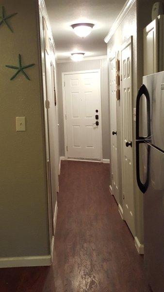 Front door, hallway, full length mirror!