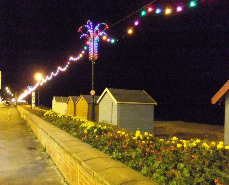 Promenade and town 2 miles away