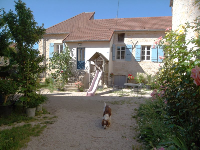 Maison 3 with Jeu de Boules fiield, Summer June 22, 2016