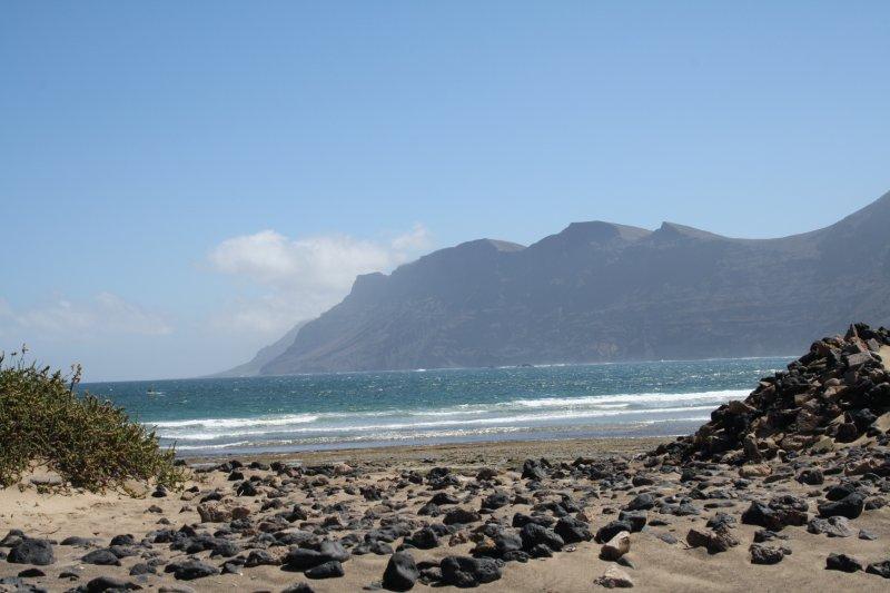 Playa  y risco de Famara