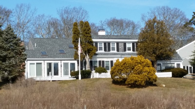 Back view of house from SW pond. 2 blocks to beach